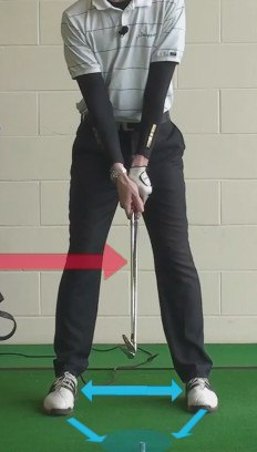 use 2 clubs for weight effect