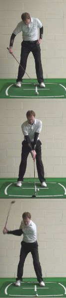 Think Clubhead Outside the Hands for Solid Takeaway, Golf Tip 2