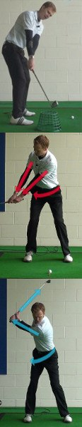 Think Clubhead Outside the Hands for Solid Takeaway, Golf Tip 6