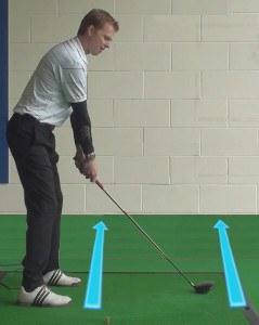 golf feet alignment 2