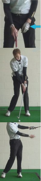 Hook Golf Shot Drills: Hold Off Finish with Badge to the Sky