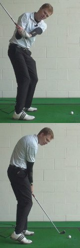 Shank Golf Shot Drills: Drop Club Behind Body Coming Down