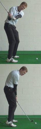 Shank Golf Shot Drills: Drop Club Behind Body Coming Down