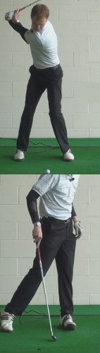 Shank Golf Shot Drills: Weight on Heels in Follow-Through