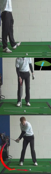 Slice Golf Shot Drills: Club Points to Inside-Out Path