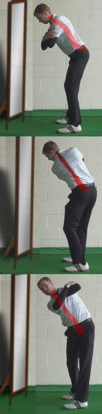 Thin Shot Golf Drill: Check Your Spine Angle in the Mirror