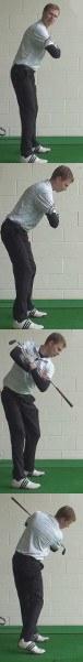 Thin Shot Golf Drill: Club Across Shoulders
