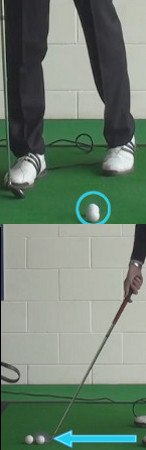 Toe Golf Shot Drill: Drop Two Balls, Hit the One on the Outside
