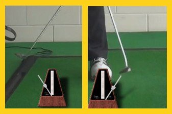 Smooth Putting Stroke Golf Drills: 75 Beats Per Minute on a