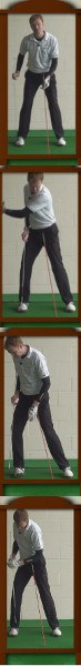 Stable Legs Golf Drills: Mirror Checkpoints