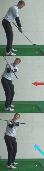 Swing Plane Golf Drills: Grip End Points at Ball