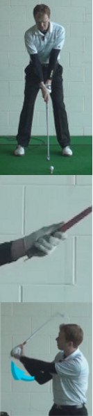 Tee Peg Under Left Palm for Shorter Swing, Golf Tip