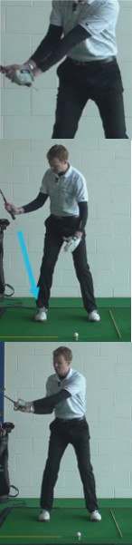Tee Peg in Top of Grip for On-Line Backswing - Golf Tip