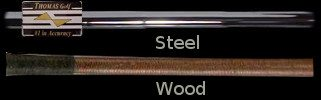 Steel and Wood Golf Shafts