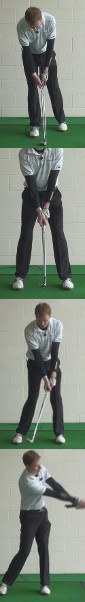 In Golf Arms Swing in Front of Chest