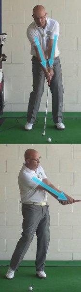 Golf Arm, Proper Setup Alignment