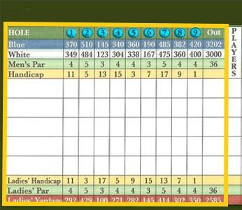 9 hole round 1