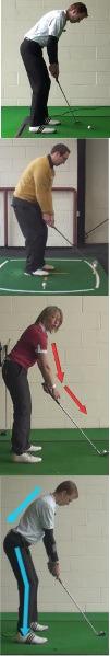 Golf Stance Knee Bend