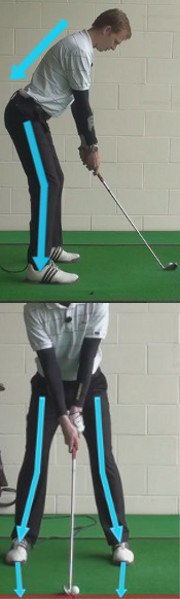 Knee Bend Golf Set Up