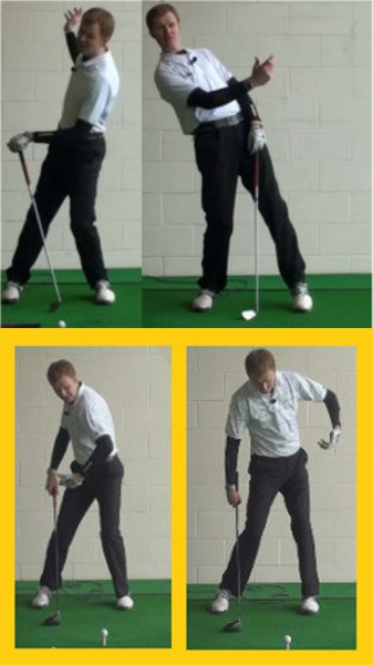Knee Bend in Golf Swing Helps Correct a Reverse Pivot