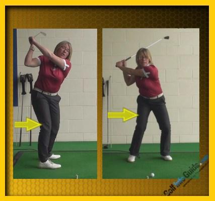 Golf Swing Tip Correct Back Leg For Power