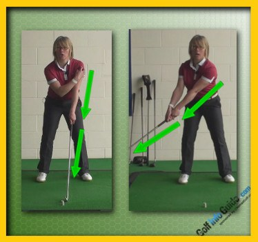 Correct Way to Start the Swing with Proper Coordination of Left Arm and Shoulder Natalie