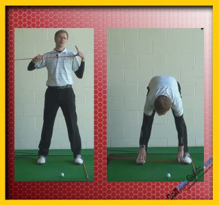Great Golf Stability Through A Perfect Stance, Tour Alignment Stick Drill 1