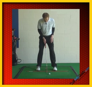 Solid Golf Putting – Ball And Shoulder Positioning, Tour Alignment Stick Drill 1