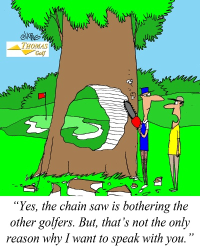 Chain Saw Funny Golf Joke