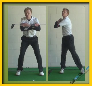 Arnold Palmer Pro Golfer Swing Sequence 2