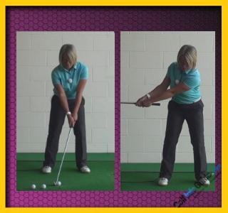 Basics for Correct Golf Punch Shot, Women Golfer Tip 1
