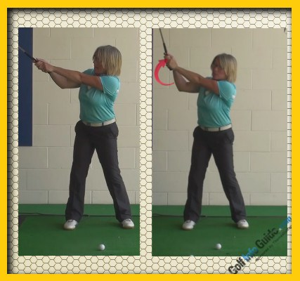 Best Swing Position To Start Wrist Hinge During The Backswing, Golf Swing Tip For Women A