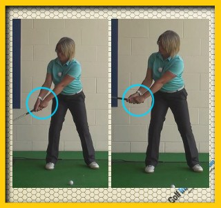 Best Swing Position To Start Wrist Hinge During The Backswing, Golf Swing Tip For Women B