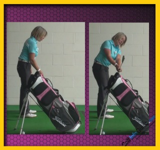 Correct Plane With Stand Bag Golf Swing Drill Tip For Women 1