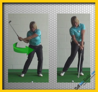 Correct and Fix One Golf Swing Problem At a Time, Women Golfer Tip 3