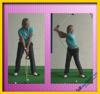 Fix Reverse Pivot Problem With This Practice Drill, Golf Tip For Women 1