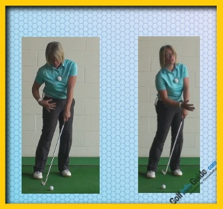 Full Golf Club Release to Create Running Chip Shot, Women Golfer Tip 1