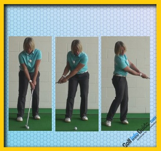 Full Golf Club Release to Create Running Chip Shot, Women Golfer Tip 2