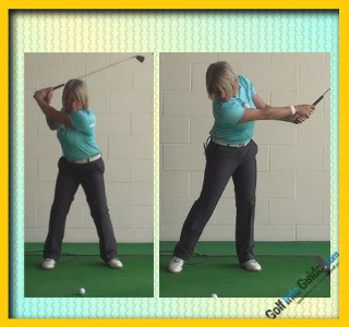 Golf Swing Follow-Through Should Bring Your Head Up, Tip For Women Golfer 1