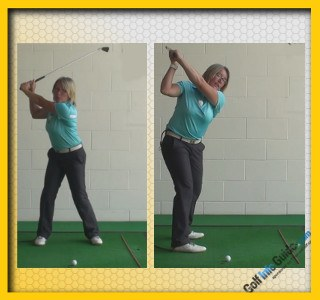 How Best To Set The Club At The Top. Golf Swing Tip For Women 1