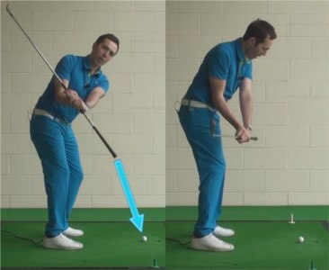 how to create an in to out golf swing