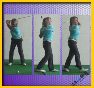 How To Get The Best Rotation Walk Through Swing Drill, Golf Tip For Women 1