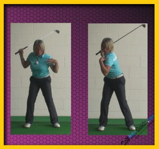 Ladies Golf Tip Step Through With Right Foot To Keep Left Side Stable 1