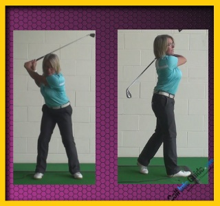 Ladies Golf Tip Step Through With Right Foot To Keep Left Side Stable 2