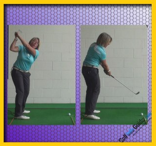 Ladies Golf Tip Stop Across-the-Line Backswing Move 2