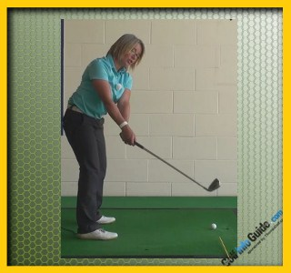 Make Sure The Club head Is Outside The Hands To Help Create A Correct Takeaway, Golf Swing Tip For Women 1