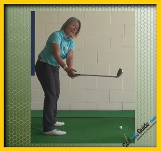 Make Sure The Club head Is Outside The Hands To Help Create A Correct Takeaway, Golf Swing Tip For Women 2