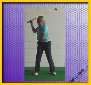 Should Your Left Heel Lift On The Backswing Golf Backswing Left Heel Up Or Down Women Golfer Tip 1