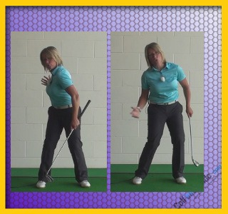 Should Your Left Heel Lift On The Backswing Golf Backswing Left Heel Up Or Down Women Golfer Tip 2