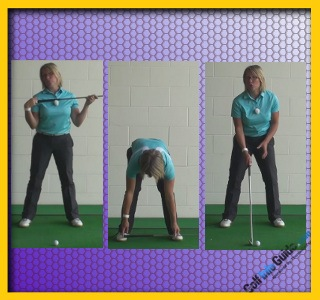 Solid Base For Correct Golf Stance, Women Golfer Tip 1